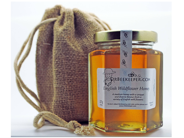 DrBeekeeper English Wildflower Honey with Gift Jute Bag